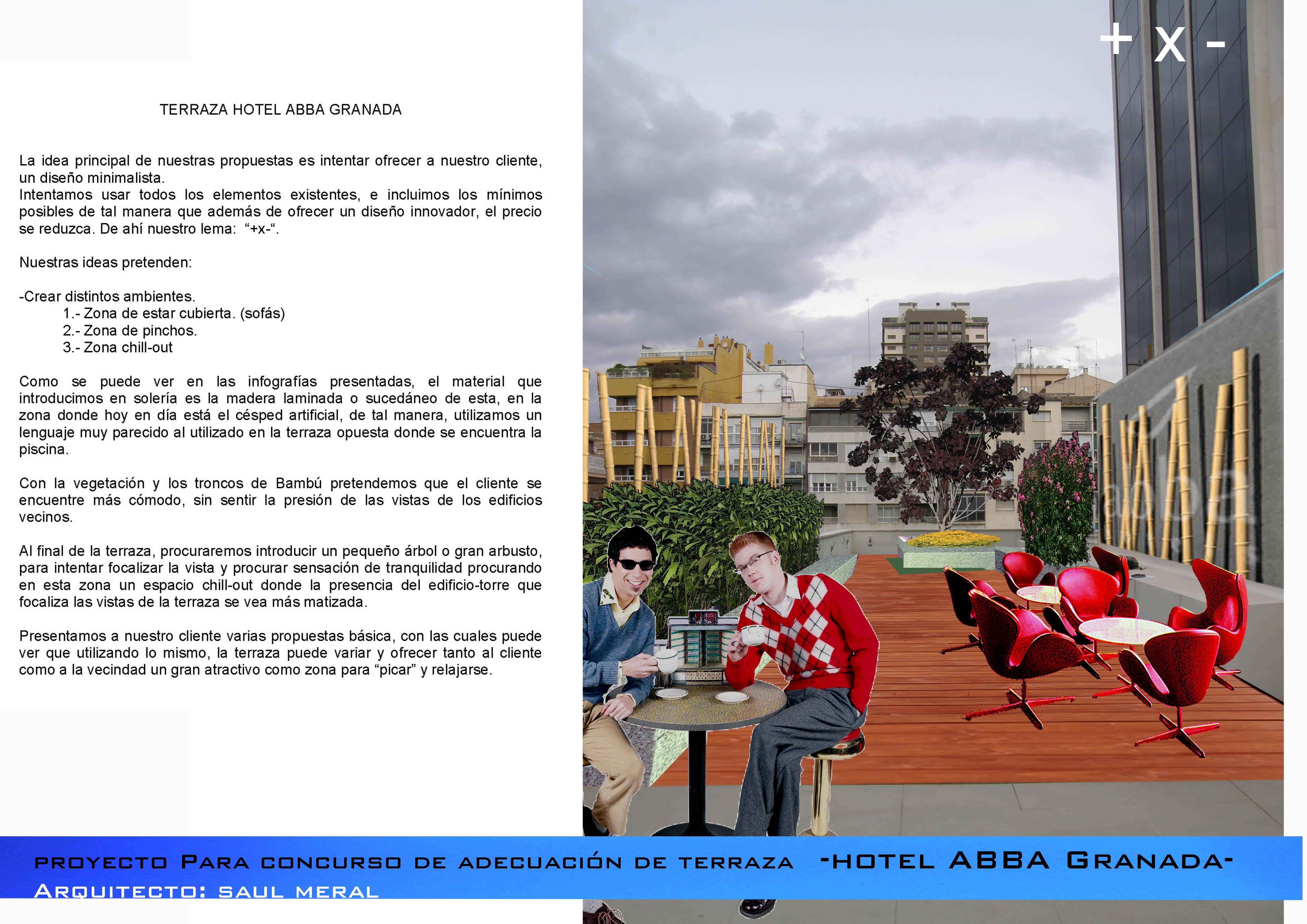 Terraza Hotel ABBA granada 2